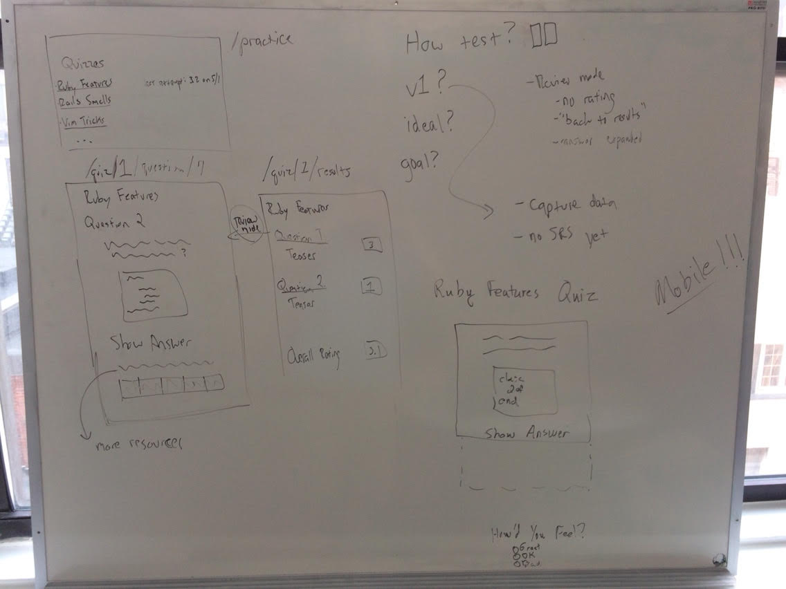 Initial flow white-boarding image